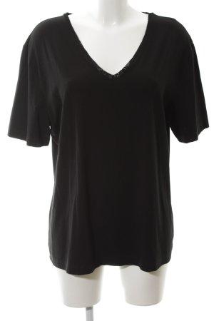 Gerry Weber V-hals shirt zwart casual uitstraling
