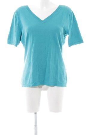 Gerry Weber T-shirt col en V turquoise style décontracté
