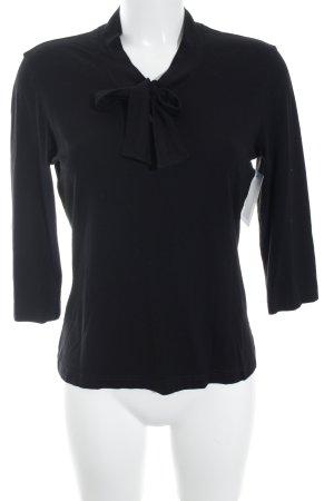 Gerry Weber V-Ausschnitt-Shirt schwarz Casual-Look