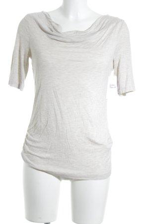 Gerry Weber Cowl-Neck Shirt oatmeal flecked casual look