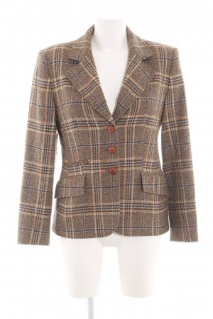 Gerry Weber Woll-Blazer braun-creme Allover-Druck Business-Look