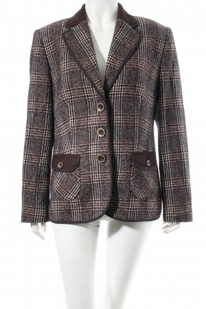 Gerry Weber Wool Blazer dark brown glen check pattern casual look