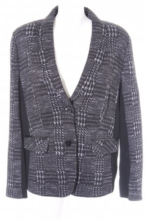 Gerry Weber Wool Blazer black-grey glen check pattern business style