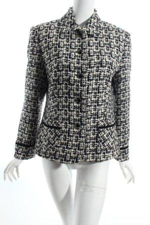 Gerry Weber Woll-Blazer weiß-schwarz abstraktes Muster Brit-Look