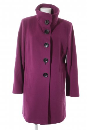 Gerry Weber Abrigo de lana violeta estilo clásico