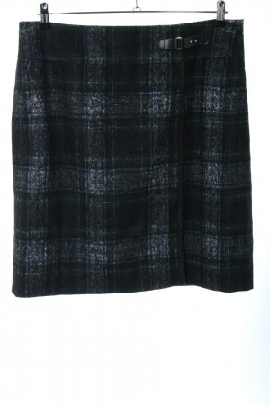 Gerry Weber Wool Skirt black-blue check pattern business style
