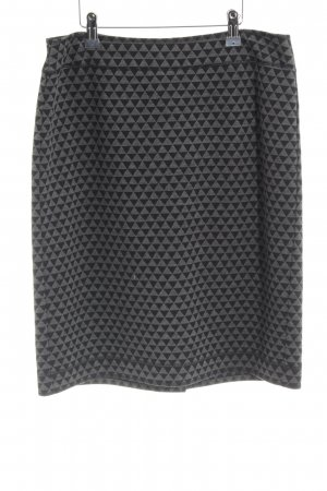 Gerry Weber Wool Skirt black-grey graphic pattern casual look