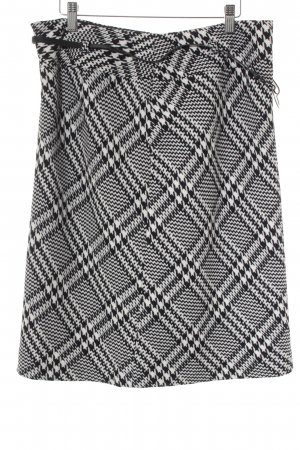 Gerry Weber Wool Skirt black-white houndstooth pattern business style