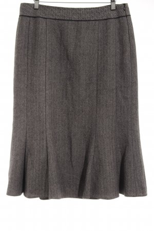 Gerry Weber Wool Skirt black-natural white zigzag pattern business style