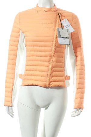Gertrude Gaston Daunenjacke orange-weiß sportlicher Stil
