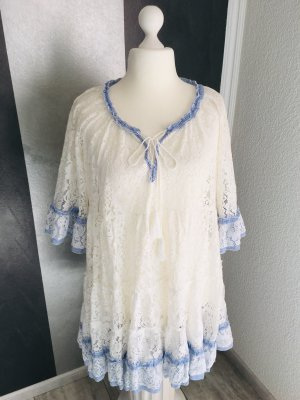 Lace Dress white-light blue