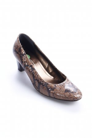 Gerwinia Pumps brown-black brown reptile print