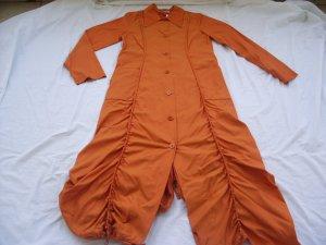 Geklede jurk donker oranje Synthetische vezel