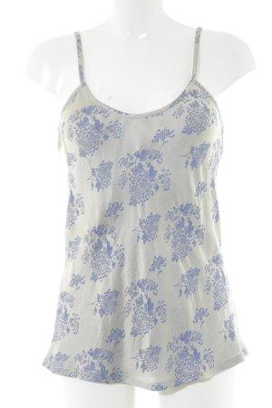 Gesine Moritz Spaghettiträger Top weiß-blau Blumenmuster schlichter Stil