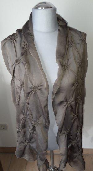 Gekreukte sjaal groen-grijs-olijfgroen