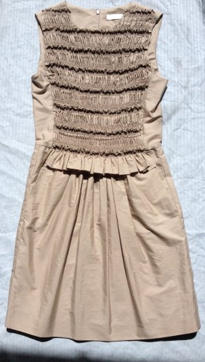 Chloé Cocktail Dress grey brown-light brown cotton