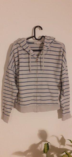 H&M L.O.G.G. Chaqueta de tela de sudadera gris claro-azul aciano