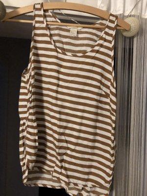 H&M Strappy Top bronze-colored-white