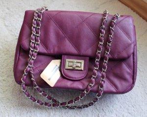 Handtas zilver-violet