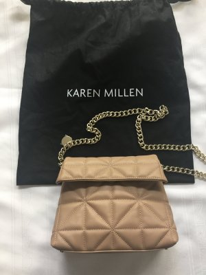 KAREN MILLEN Borsetta mini color cammello Pelle