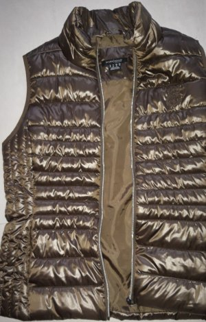 Mark Adam Quilted Gilet olive green polyamide