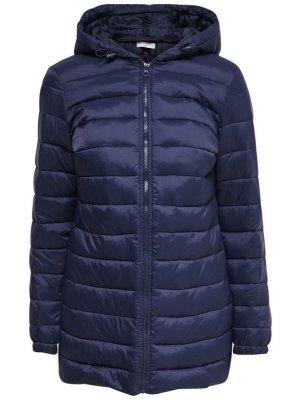Jacqueline de Yong Quilted Coat dark blue polyester