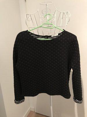 Gesteppter Promod Pullover in Schwarz & Weiß, S
