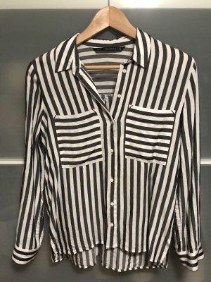 Zara Camicia blusa bianco-grigio