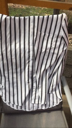 Amisu Blouse-chemisier blanc-noir