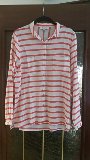 Anne L. Long Sleeve Blouse white-bright red