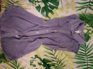 H&M Blusa sin mangas azul oscuro-blanco