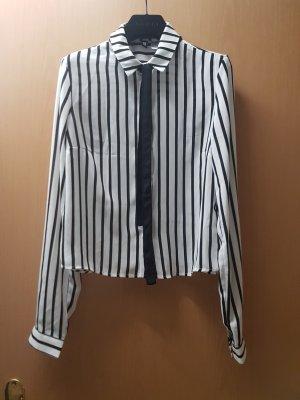 H&M Divided Cols de blouses blanc-noir polyester