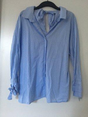 Gestreifte Bluse hellblau/weiß
