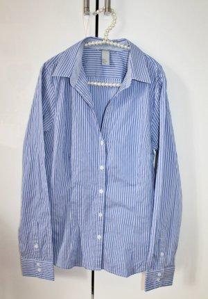 Gestreifte Bluse in blau weiß