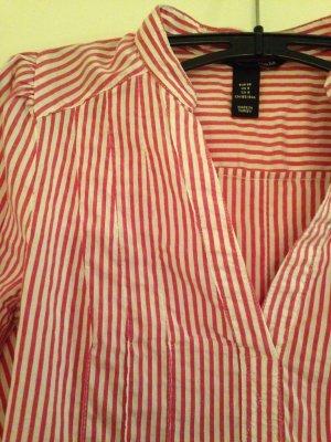 Gestreifte Bluse in rot-weiß von H&M