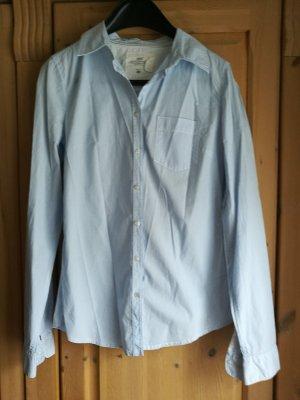 H&M L.O.G.G. Blouse Collar white-light blue