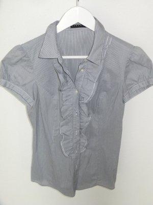 Gestreifte Bluse mit Rüschen von Sisley