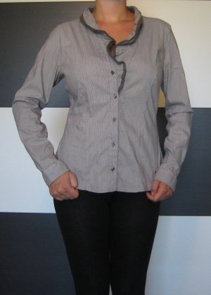 Street One Blouse à volants gris-gris anthracite