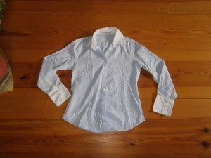 Aygill's Blouse à manches longues blanc-bleu pâle