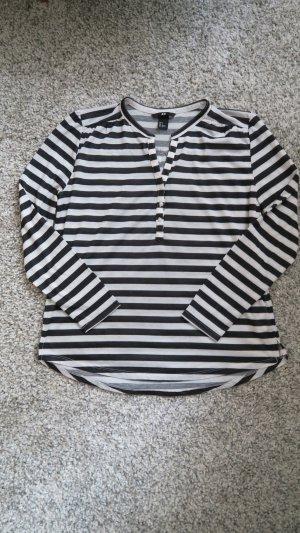 gestreifte Bluse schwarz weiß