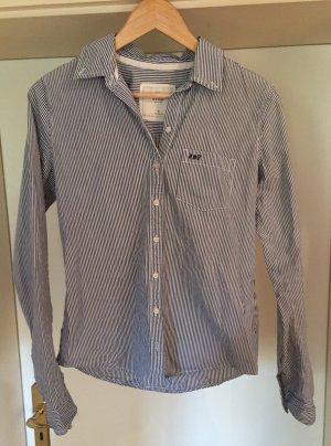 Abercrombie & Fitch Blusa-camisa azul aciano Algodón