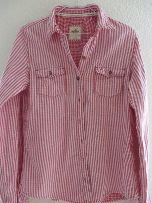 gestreifte Bluse von Hollister, Gr. L, rot-weiß