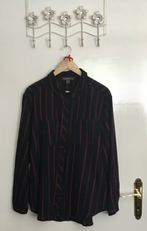 Primark Lumberjack Shirt dark blue-carmine cotton