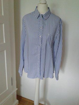 gestreifte Bluse Zara Gr. S blau-weiß