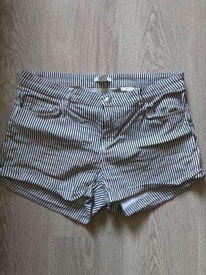 H&M Short en jean blanc-noir