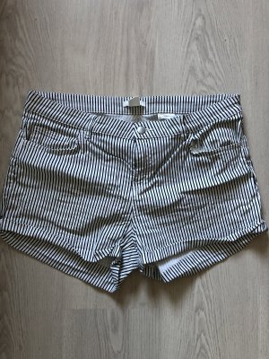 H&M Denim Shorts white-black