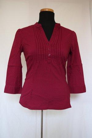 gestreifte H&M Bluse mit Details (beere)