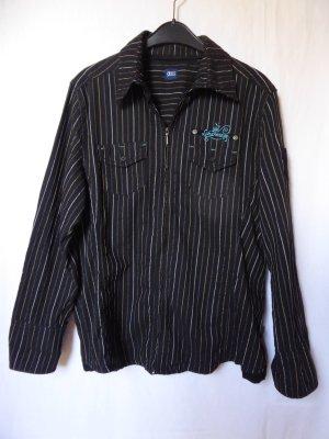 Gestreifte Hemd-Bluse mit Reißverschluss von Cecil