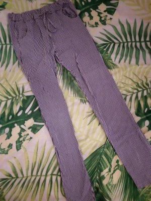 Colloseum Drainpipe Trousers dark blue-white cotton