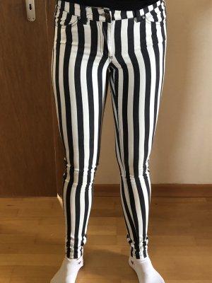 H&M Pantalone a sigaretta bianco-nero